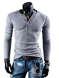 Men's Slim Casual Long Sleeved Pure T-Shirts A