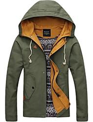 Pull à Capuche & Sweat-shirt ( Coton ) Tous les jours - Pur à Manches longues pour Pour des hommes