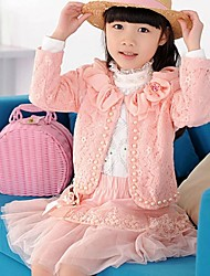 Momlook™ Girl's Cute Lace Long Sleeve Dress Three Pieces Suit