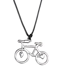 Fashion Stainless Steel Bicycle Pendant Necklace  Christmas Gifts