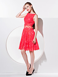 Homecoming TS Couture Cocktail Party Dress - A-line Bateau Knee-length Lace