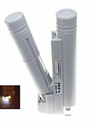 led portátil iluminado 150x microscópio binocular (2 x AA)