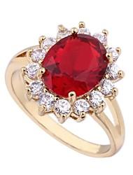 Women's Fashion Unique Design 18K Gold Zircon Ring