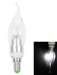 White Light LED Candle Pull Tail Light (AC 220V) E14 3W