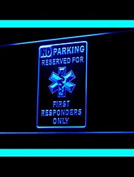 pas de publicité d'avertissement de stationnement conduit de lumière de signe