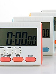 "Electronic Stopwatch Countdown Clock Kitchen Timer (Random Color) ,Plastic  3""X2.8""X0.6"""