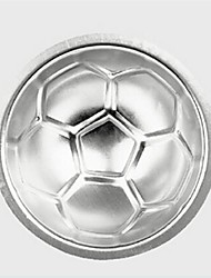 Small Football Soccer Shape DIY Birthday Cake Baking Jello Pan Mold,Aluminum 7×7×7 CM(2.8×2.8×2.8 INCH)