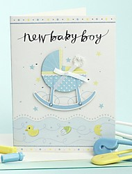 Convites de casamento Convites para Chá de Bebê Dobrado de Lado Não personalizado
