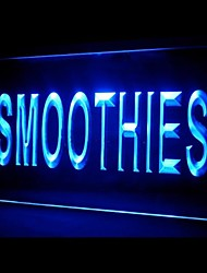 Smoothies Fruit Juice Green Blue Red White Orange Purple Yellow Advertising LED Light Sign