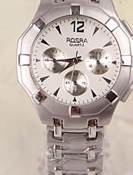reloj de la venda de acero de los hombres shinuo tres placas de decoración de cuarzo