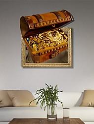 3D The Chest Adesivos de parede Decalques
