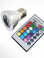 High Quality 7 Colour with Remote Control E27  Bulbs