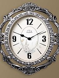 """26.4 """"H antique délicat ovale Silvey Résine Horloge murale"""