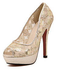 Nouvelle Vague Lace Platforms High Heel Shoes