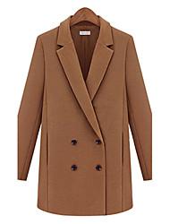 Oujia новая мода случайные дикие пальто (верблюд)