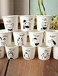 The 12 Chinese Zodiac Pattern Ceramic Cup (12pcs/Set),7x7x6.5cm