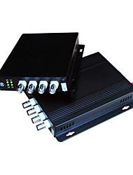 4CH цифрового видео оптический трансивер Пара
