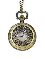 Sposo della cavità del bronzo Incisione Foglie Vintage Pocket Watch Con Confezione Regalo