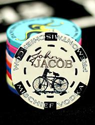 modèle de vélo texas hold'em poker chips mahjong céramique divertissement jouets