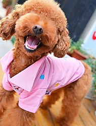 Floral Embroidery Polo T-Shirt Dogs Clothes Pet Apparel (XS-L)
