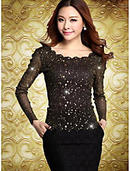 TS Beads Slim Cut Mesh Top