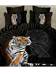 Ailisi 3D Oil Painting Animal Pattern 4Pcs Bedding Set