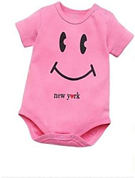 Girl Children's Cute Candy Color Boy Girl Baby Short Sleeved Jumpsuits