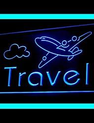 publicidade passagem aérea viagem levou sinal de luz