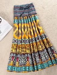 Women's New Hot Fashion Bohemia Ethnic Print Skirt