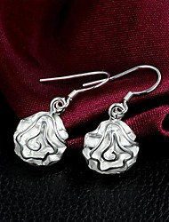 3D Silver Rose Boucles Lucky Doll femmes
