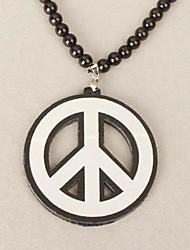 Patrón paz collar de acrílico