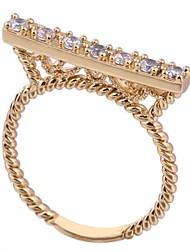 Women's New Fashion 18K Gold Plated  Shape roller skates  Design Zircon Ring WJ0022
