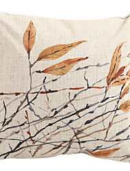 Abstract Autumnal Leaves Cotton/Linen Decorative Pillow Cover