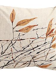 Resumo folhas outonais algodão / Linen decorativa fronha