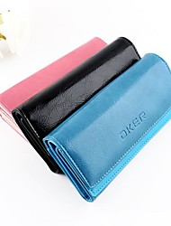 Fashion Style Colorful PU Leather Multilayer Clutch Women Wallet