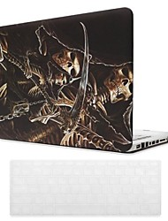 Skull Pattern PC Hard Case with Keyboard Cover Skin for MacBook Pro