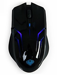 Qisan Crotalus 2.4GHz 2000dpi 6 Botones Blue LED Wireless Profesional Gaming Mouse-Negro
