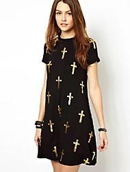 robe croisée de pattren de monaier femmes