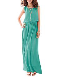 Vintage Chiffon Rüschen Kleid YLS Frauen