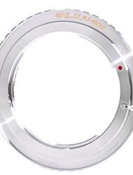 Bigis Nikon AI Lens pour Canon EOS Objectif Mount Adapter Ring - Argent (46mm)