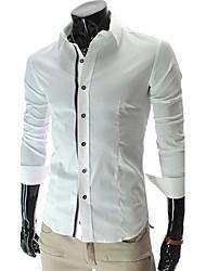 Yess Fashion Popular Slim Shirt(White,Black)