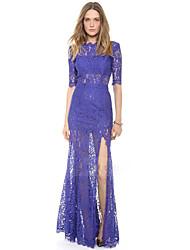 Monaier Women's Backless Lace Cut Out Dress