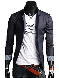 Men's Coats & Jackets , Cotton Blend Casual HF