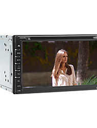 "6.95 ""2 din carro dvd player universal embutido bluetooth / usb, sd / dvd / fm / ATV / ipod / rds / microfone / gps"