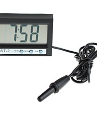 YuanBoTong   2 Inch LCD Screen Digital Clock Indoor and Outdoor Temperature with Temperature Probe