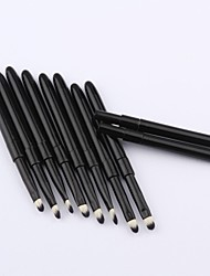 High Quality Fashion 10 Pcs Lipbrush Mini Aluminum Tube Retractable Lip Brush Makeup Brush Perfect Make Up Tool