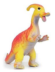 Parasaurolophus Dinosaurier-Modell Rubber Action-Figuren Spielzeug (Orange)