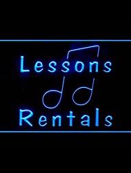 Music Lessons Advertising LED Light Sign