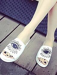 Женские плоский каблук Слайд Тапочки с горный хрусталь обувь (больше цветов)