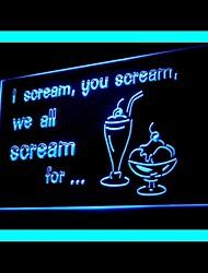 Schrei IceCream Werbung LED-Licht Anmelden